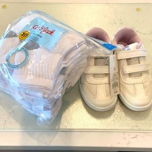 Cat and Jack shoes and ankle socks size 10